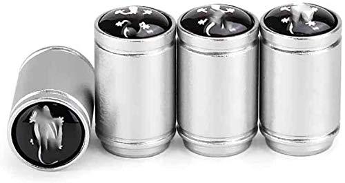 4 unids de la válvula de neumático de la válvula de la válvula de la válvula de los coches con las ruedas a prueba de fugas Tapa de polvo para Audi A3 A4 A5 A6 Q3 Q5 Q7 S3 S4 S5 Logo Emblem Auto Caps
