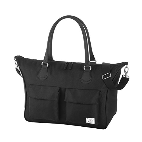 """Rada Shopper Rainbow RT/7 – Laptoptasche 15,4"""", Multifunktionstasche, große Handtasche, Umhängetasche mit vielen Fächern, strapazierfähig und wasserabweisend, mit gepolstertem Notebookfach (schwarz)"""