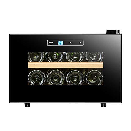 LRXGOODLUKE Wijnkoeler, koelkast, mini-wijnkoelkast, inhoud tot 8 flessen, 11-18 °C, geschikt voor privékantoor, familieslaapkamer, woonkeuken