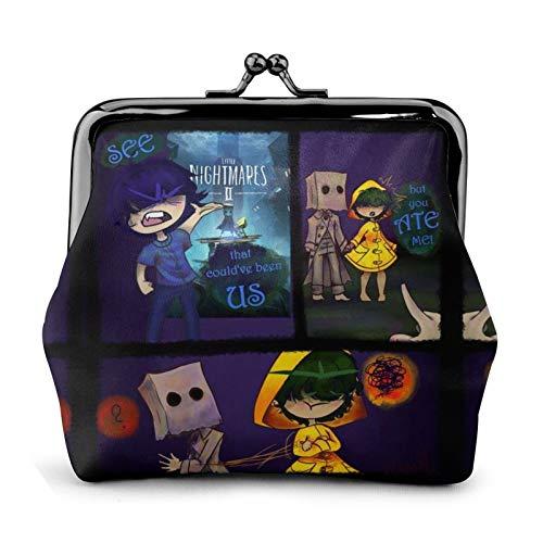 Erwachsene Kinder Spiel Papiertüte Comic Edition 1 gruseliges PC-Spiel Mono Mädchen sechs kleine Nachtstuten Schlüsselring Geldbörse Geldbörse PU Leder RFID Blocking Mini Soft süß