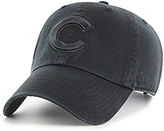 Chicago Cubs Hat MLB Authentic Brand Clean Up Adjustable Strapback Black Baseball Cap Adult One Size Men & Women 100% Cotton