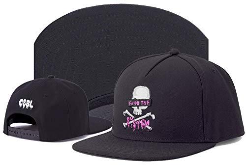NA baseballpet hoogwaardig merk Cap zwarte hip-hop-hysteresenhoed voor mannen vrouwen volwassenen buiten casual zon honkbalpet zwart met roze 12