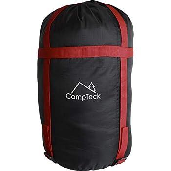 CampTeck U6954 - Sac de Compression Léger Housse de Compression Résistant à l'eau Stuff Sack pour Sac de Couchage, Rangement des Vêtements, Voyage, Camping etc - Noir