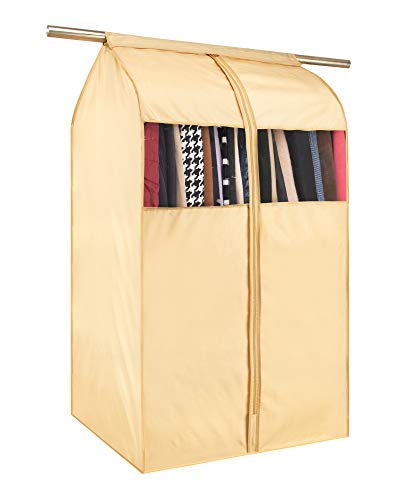 Tsing 1 Pack Garment Cover 420D Oxford Fabric Storage Bag-Beige-32''W23''D43''H