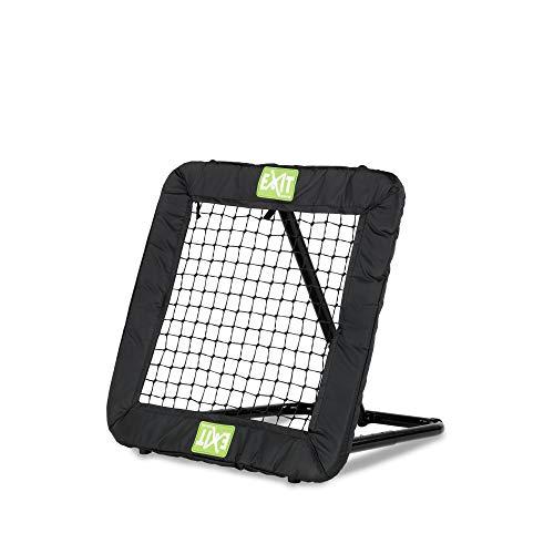 EXIT Fußball Rebounder Kickback - 84x84cm - Schwarz - Fußball Trainingszubehör - Verstellbar in 10+ Stufen