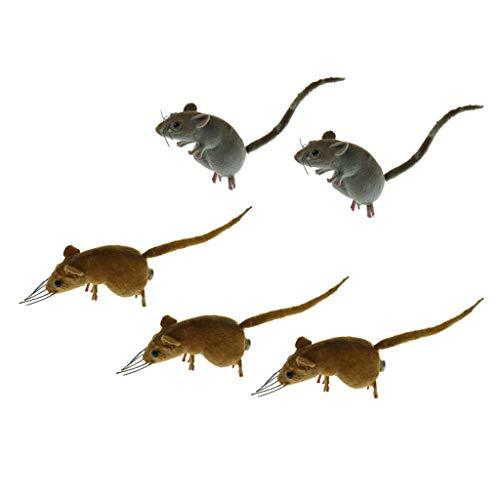 B Blesiya Realistische Maus Tier Ornament Kühlschrank Magnet, auch als Kinder Spielzeug oder Geschenk - 5pcs