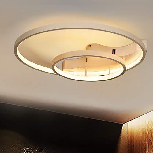 Lámpara de techo LED I CBJKTX lámpara de techo 51cm 51W, regulable con mando a distancia lámpara de salón lámpara de comedor de hierro lámpara de dormitorio lámpara de baño lámpara de pasillo
