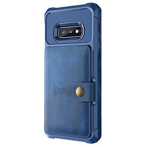lllteri Hülle für Galaxy S10E Case HandyHülle Leder Brieftasche PU Handytasche Slim Schutzhülle Geldbörse Kredit Kartenfächer Schale Kompatibel mit Galaxy S10E