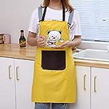 XIAOXX Cocina Delantal doméstico Impermeable a Prueba de Aceite Cocina Sudadera con Capucha para Adultos Babero Moda Cintura Trabajo Lindo