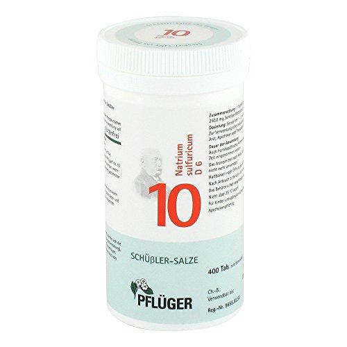 BIOCHEMIE Pflüger 10 Natrium sulfuricum D 6 Tabl. 400 St