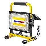 180W Baustrahler Akku Strahler LED Solar...