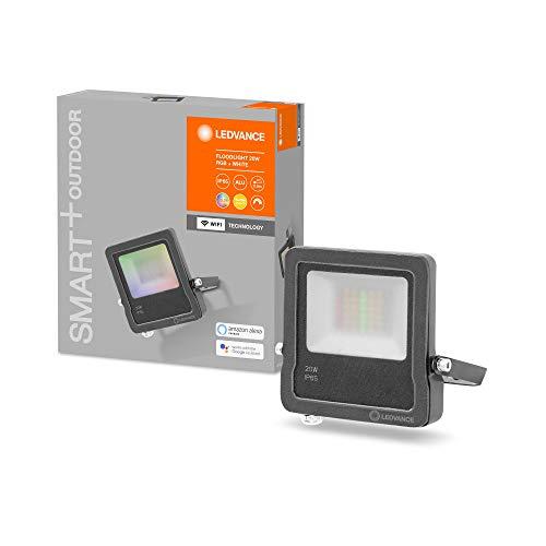Ledvance Luz exterior LED inteligente con tecnología WiFi, focos para exterior, colores...