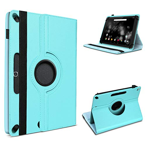 UC-Express Tablet Hülle kompatibel für Blackview Tab 8 Tasche Schutzhülle Case Schutz Cover 360° Drehbar 10.1 Zoll Etui, Farben:Türkis
