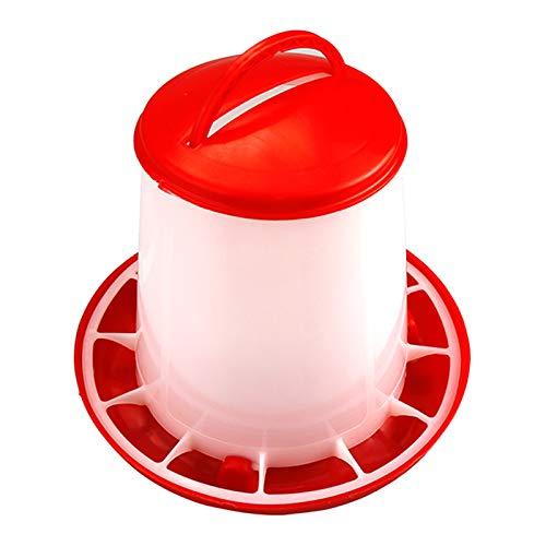 GCSEY 1.5Kg Alimentador De Pollo Cubo Herramienta Alimentador De Plástico para Alimentos Pollo Pollo Gallina Aves De Corral Tapa Manija Cubo Alimentación Suministros De Riego