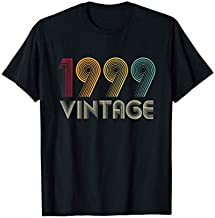Vintage 1999 TShirt 22th Birthday Gifts 22 Years Old T-Shirt