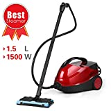 Steam Cleaner, SIMBR Steam Mop 4.5 Bar 1.5L Steamer Multifunctional with 17 Accessories