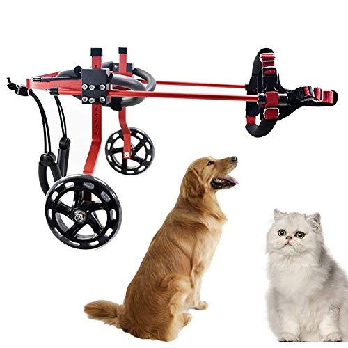 YUEXING Rollstuhl Hund Rollstuhl Gehhilfe für Katzen Hunde Die perfekte Unterstützung beim Gehen oder Treppensteigen, Heckstütze Rollstuhl, postoperative Rehabilitation, verstellbar