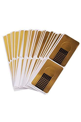 LJSLYJ 100 Stücke Phototherapie Kristall Rüstung Verlängerung Papierablage Gel Fingernagelverlängerung UV Gel Polieren Nail Art Paper Care