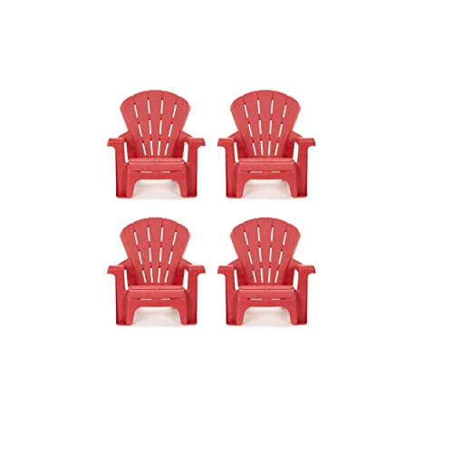 Little Tikes Garden Chair (4 Pack), Red