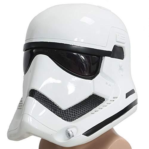 Mesky EU Stormtrooper Helmet Máscara Casco Shepperton Resina Disfraz Colección Cosplay Halloween Caranaval para Hombre Mujer