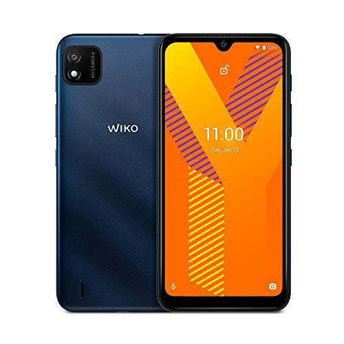 """WIKO Y62- Smartphone 4G de 6'1"""" (3000mAh de batería, Dual SIM, 16 GB de ROM, Quad Core 1,8GHz, cámaras de 5MP, Android 11 Go Edition) Dark Blue"""