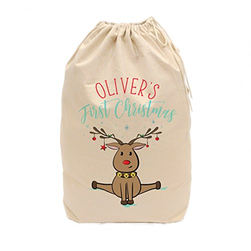 The Cotton & Canvas Co. Personalized First Christmas Santa Sack