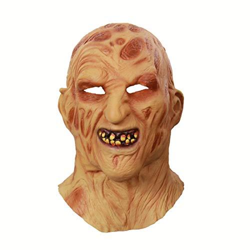 DUBAOBAO Halloween Ghost Festival Buitenlandse Handel Latex Vuur Gezicht Rotten Vlees Hoofd Horror Rotten Gezicht Zombie Grimace Maskers Masker