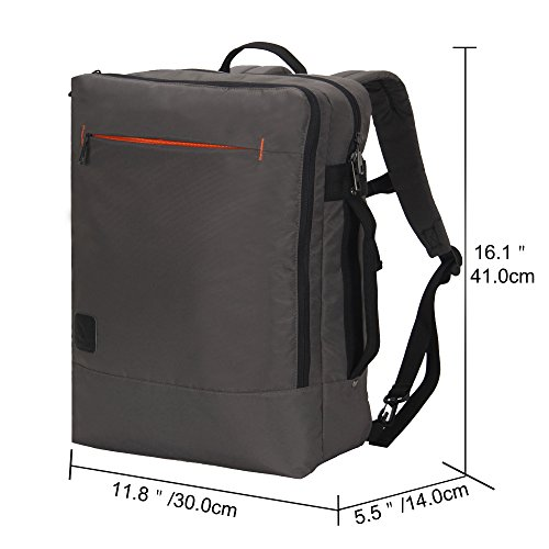 Hynes Eagle Minimalist City Backpack for Up to 15.6 inch Laptop Grey