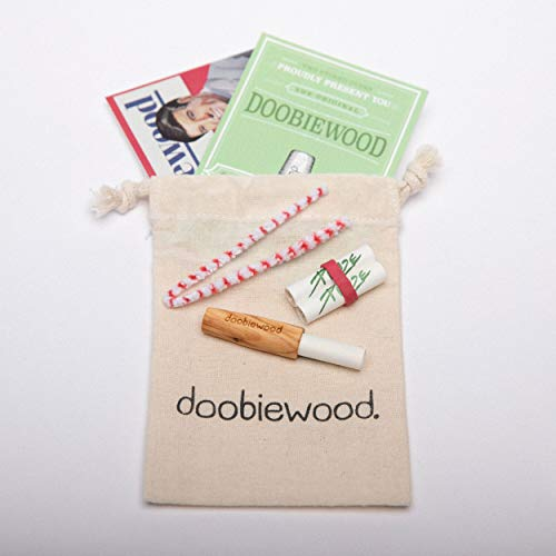 doobiewood® | spliff holder made from olive | adaptor for 9 mm charcoal filters