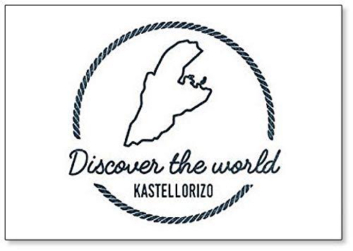 Ontdek de wereld Griekenland Kastellorizo Map Outline - Classic Koelkast Magnet
