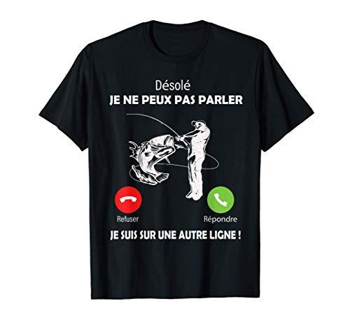 Désolé, je Suis sur Une Autre Ligne Pêche Pour Pêcheurs papa T-Shirt