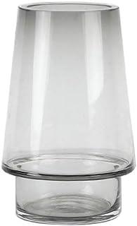 Gray Flower Vases, Modern Living Room Accessories Vase Planters Containers Flower Pots for Hydroponics Plants Desktop Glas...