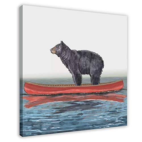 Liugeliu Transportation by Water Boats Canoes Bear in Canoe by...