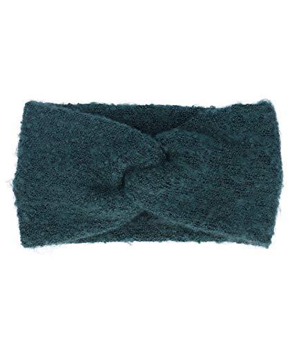 SIX Stirnband Dunkelgrün mit raffinierten Knoten-Design, winterliches Accessoire, Must-have (530-681)