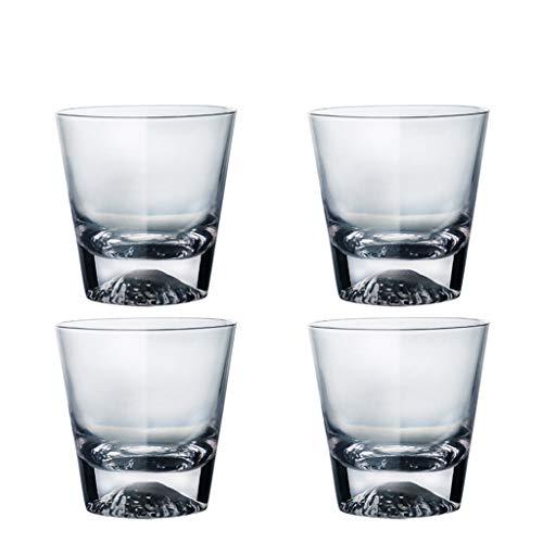 LRW Japanse stijl Glaswerk Mug Set Creative Coffee Mug Whisky Mug 4 delige Gift Box -300ml ~ 400ml (Size : M)