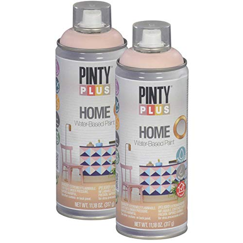 Pintyplus Home Spray Paint - Light Rose - 11.2 oz Aerosol - 2 Pack, Low Odor, Low VOC, Matt Finish, Water Based, Environmentally Friendly, Ideal for Indoor Household Projects, Pack of 2