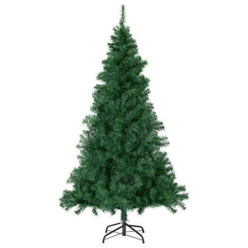 SALCAR Weihnachtsbaum künstlich 180cm mit 560 Astspitzen, Tannenbaum künstlich Schnellaufbau inkl. Christbaum-Ständer, Weihnachtsdeko - grün 1,8m