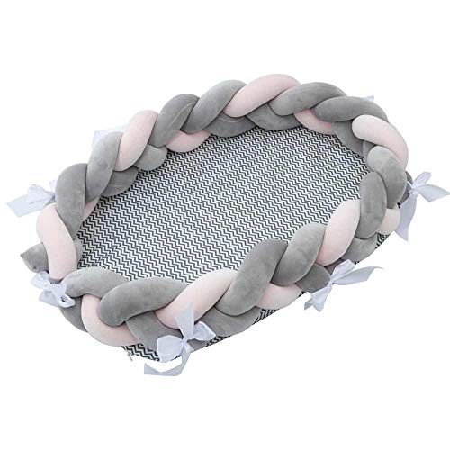 Lowest Prices! JBZP Baby NEST Bed Woven Twist Crib Portable Removable and Washable Baby Fence Sleep ...