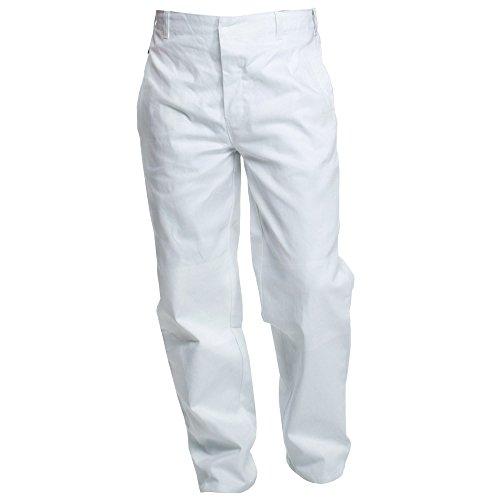 Charlie Barato® Malerhose - waschfeste Bundhose weiß - robuste Arbeitshose (52)