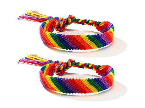 Various Style Gay & Lesbian LGBT Pride Braided Macrame Bracelet Bulk Rainbow Pride Parade Accessory Wristband Handmade Pride Jewelry for Men Women