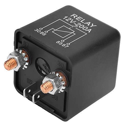 12V Relais de Démarrage 4 Broches Relais de Interrupteur Marche/Arrêt pour voiture robuste RL/180 200A WM686