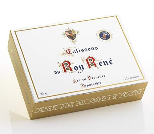 Confiserie du Roy René - Boîte Familiale Calissons d'Aix en Provence - 72 calissons : 950 Gr