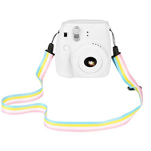 SAIKA Kamera Schultergurt für Fujifilm Instax Mini 9/8 / 8+ / 7s / 25/26 / 50s / 70/90 Sofortige Kamera, Regenbogen Bunte verstellbare Gürtel Neck Strap für Polaroid Kamera und Digitalkamera