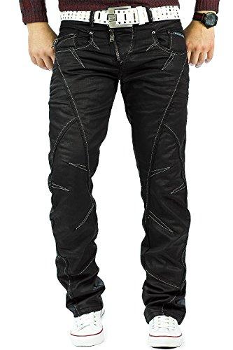 Cipo /& Baxx Damen Slim Fit Jeans Hose Freizeit Blackjeans Streetwear Casual