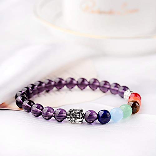 GMZPP Trendy Boeddhisme Lapis Lazuli Steen Kralen Vrouwen Armband Yoga Gebed 7 Chakra Tijger Oog Armband Mannen