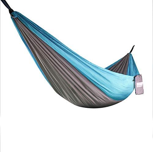 Steinweber Ultraleicht Hängematte mit Aufhängung | 285 x 160cm | max. 250kg | Reisehängematte 600g leicht | 2 Personen Hängematte Outdoor | Camping, Wandern, Garten, Balkon