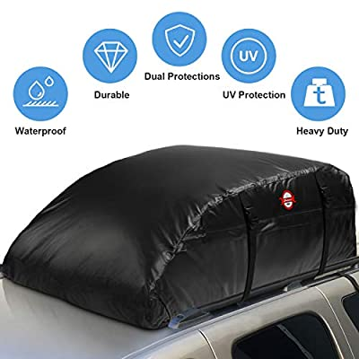 Adakiit Car Roof Bag Cargo Carrier (16.7 Cubic Feet)