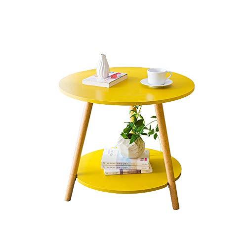Mesa de centro Sofá Mesita auxiliar Crepúsculo Ronda Final de mesa de café Snack-portátil escritorio de la tabla lateral for el hogar Muebles de Oficina (amarillo) para el hogar, sala de estar, oficin