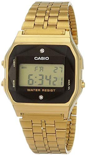 Relógio Feminino Casio Vintage Diamond A159WGED-1DF - Dourado