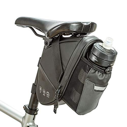 Bolsa para Sillín de Bicicleta con Bolsillos Portabotellas Bolsa de Almacenamiento Impermeable para Asiento de Bicicleta para MTB Accesorios para Bicicletas